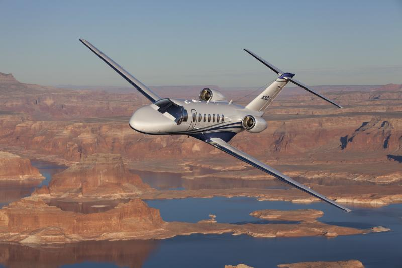 Cessna Citation CJ3+ Aircraft in Flight