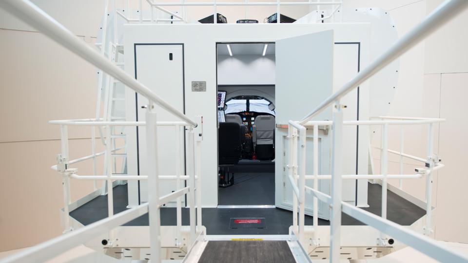Exterior of CJ3 Full Flight Simulator