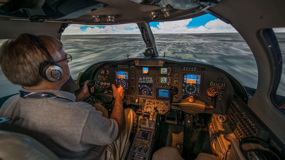 Inside the CJ3 Full Flight SIM